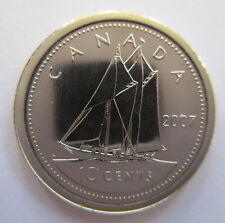 2007 CANADA 10 CENTS CURVE 7 SPECIMEN DIME COIN