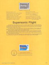 #9728 32c Supersonic Flight Stamp #3173 USPS Souvenir Page