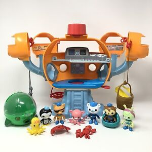 Octonauts OCTOPOD toy lot with GUP E Submarine and Octo Alert