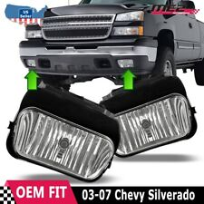 For Chevy Silverado 03-07 Factory Bumper Replacement Fit Fog Lights Clear Lens