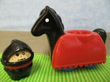 LITTLE TIKES WEE WAFFLE Blocks MEDIEVAL CASTLE Black KNIGHT/HORSE TODDLE TOTS