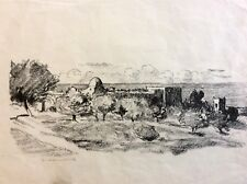 HERMANN STRUCK (1876-1944), Quality Lithograph , Rachel Tomb , Signed