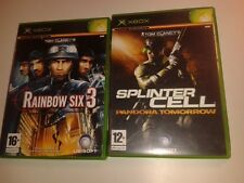 * Original Xbox Game * FPS BUNDLE - CLANCY'S RAINBOW 6 + SPLINTER PANDORA *
