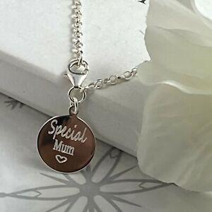 sterling silver anklet ankle chain solid silver with special mum aunt etc option