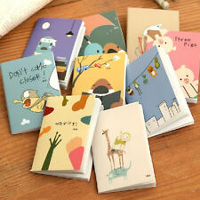 1Pc Mini Cute Cartoon Notebook Handy Pocket Notepad Paper Journal Diary Portable