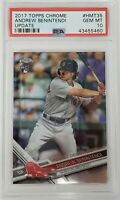 2017 Topps Chrome Update Red Sox ANDREW BENINTENDI Rookie Card PSA 10 GEM MINT