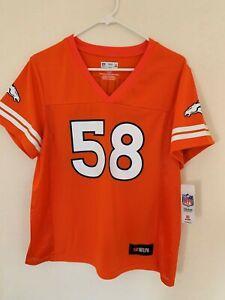 Von Miller Denver Broncos Majestic Hashmark Player Name & Number T-Shirt Orange
