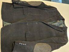 POLO Ralph Lauren Men Corduroy Coat Dark Brown Tweed Jacket Rugby Blazer 38R