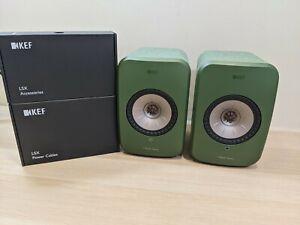 KEF LSX Hi-Res Wireless Music System Pair of Speakers - Green - SP3994JX
