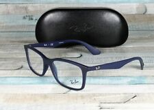 RAY BAN RX7047 5450 Matte Trasp Blue Demo Lens 54 mm Men's Eyeglasses