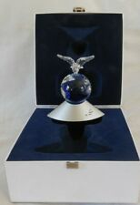 Rare Swarovski Crystal Gem Planet 2000 Christmas Peace Dove On World Globe