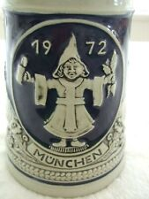 1972 Munich Olympics Gerz Beer Stein with lid