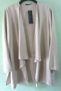 Women's Windsmoor Beige Open Front Cardigan/Jacket Size 18 Smart/Casual/Fashion