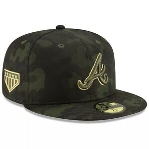 Atlanta Braves New Era 59Fifty Armed Forces 7 1/2 Fitted Cap Hat $40