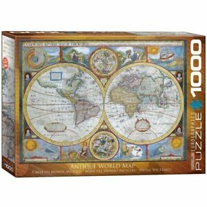 Eurographics Puzzle 1000 Piece Jigsaw - Antique World Map  EG60002006