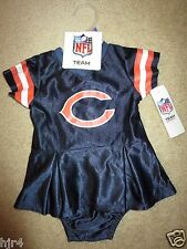 Chicago Bears Cheerleader NFL Cheer Dress Outfit Baby 6-12m 12M NEW Cute!