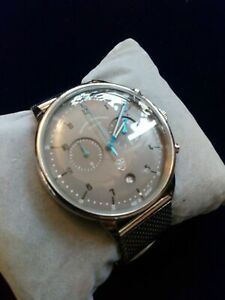 Dufa Chrono Watch DF-9003-11 New Mint Condition Made in Germany Mesh Bracelet