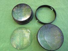 Loupe cartes photos 2 cerclages métal noir 3 lentilles bombées Dia. 13,4 cm