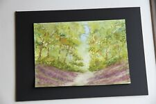 New Watercolour Bluebell wood 29cm x 21cm unmounted unframed