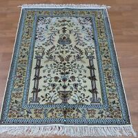 Yilong 3'x5 Persian Handmade Carpet Tree Of Life Hand Knotted Silk Area Rug 338B