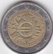 2 EUROS COMMEMORATIVE FRANCE 2012 - 10 Ans de l'€uro 2002-2012 -