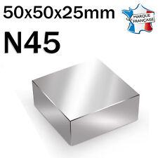 SUPER AIMANT MAGNET NEODYM N45 - 50x50x25mm - 300Kg