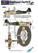 LF Models Decals 1/48 CAPTURED FOCKE WULF Fw-190F British Markings
