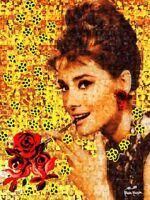MARIA MURGIA - Audrey Hepburn - Fotomosaico digitale cm 80x60 + ARCHIVIO