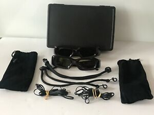 3D Glasses with USB & Hard Storage Case USB Charger & Soft Pouch QC-PASS