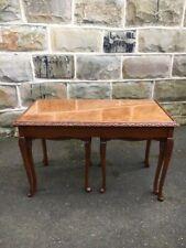 Antique Walnut Nest 3 Coffee Tables