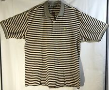 THE MASTERS Collection Golf Polo Shirt S/S Mens sz XL Striped Black Gold Augusta