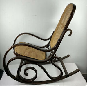 Vintage Bentwood Rocking Chair Rocker Wood Cane Mid Century Modern Thonet STYLE