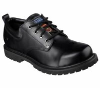 77019 Skechers Men's COTTONWOOD-FRIBBLE SLIP RESISTANT Shoes BLACK