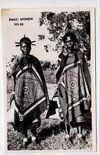 (Lx124-388) Real Photo of Swazi Women,  Unused G-VG