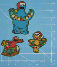 SesameStreet ChristmasElmo Zoe Cookie Monster Fabric Iron Ons Appliques style#1