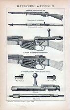Old print romanian fire weapon rifle gun vuurwapen 1893 antique