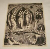 1880 magazine engraving~ CHRISTMAS BELLS With Angels and Cherubs