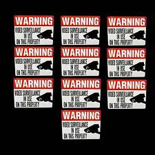 Home Security Decals Stickers For Windows Camera Monitoring Alarm System Warning