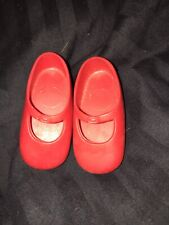 Pair of Ideal Vintage Shirley Temple Red Shoes- 7M- 5347- 02 3