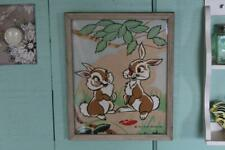 Vintage Walt Disney Thumper and Miss Bunny Picture from Bambi, Framed Thumper