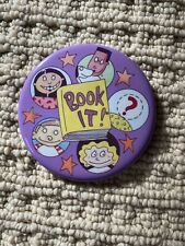 New listing Vintage Button Pin Purple Multicultural Nationalities Book It 1993 Pizza Hut htf