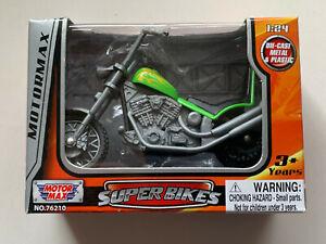 Motormax Super Bikes Model 1:24 Lime
