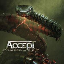 Pre Order ACCEPT Too Mean to Die CD New 2021 Release Metal SEALED