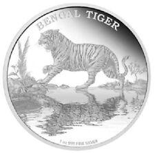 Niue - 2 Dollar 2015 - Bengal-Tiger - Bedrohte Tierarten (3.) - 1 Oz Silber PP