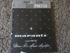 New listing Marantz Pm730 Stereo Pre Amplifier Original Service Repair Manual