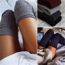 Womens Winter Cable Knit Over Knee Long Boots Thigh High Warm Socks Leggings DSU
