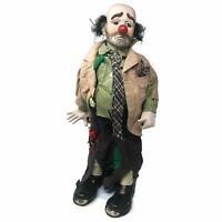 Vintage BIG Dynasty Doll Porcelain Clown Doll 19″ Emmett Kelly Black Hat