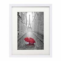 11x14 White Picture Frame - Made to Display Pictures 8x10 with Mat or 11x14