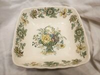 Masons Patent Ironstone Strathmore Square Bowl 9 Inch In Excellent Condition