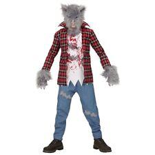 WERWOLF KOSTÜM KINDER Halloween Karneval Party Zombie Wolf Monster Jungen # 0880